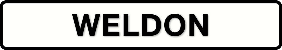 WELDON sign