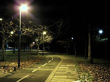 Cycle_path_on_The_Roundway_Tottenham_London_England