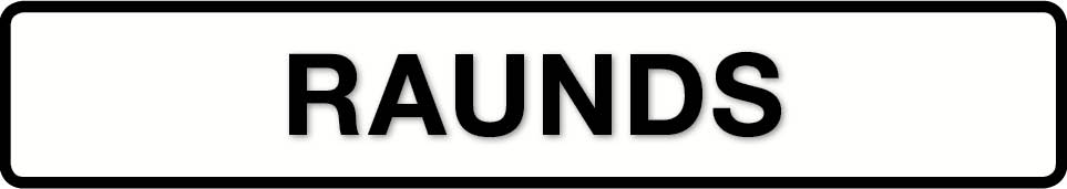 RAUNDS sign