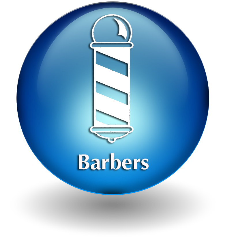 Barbers button 2