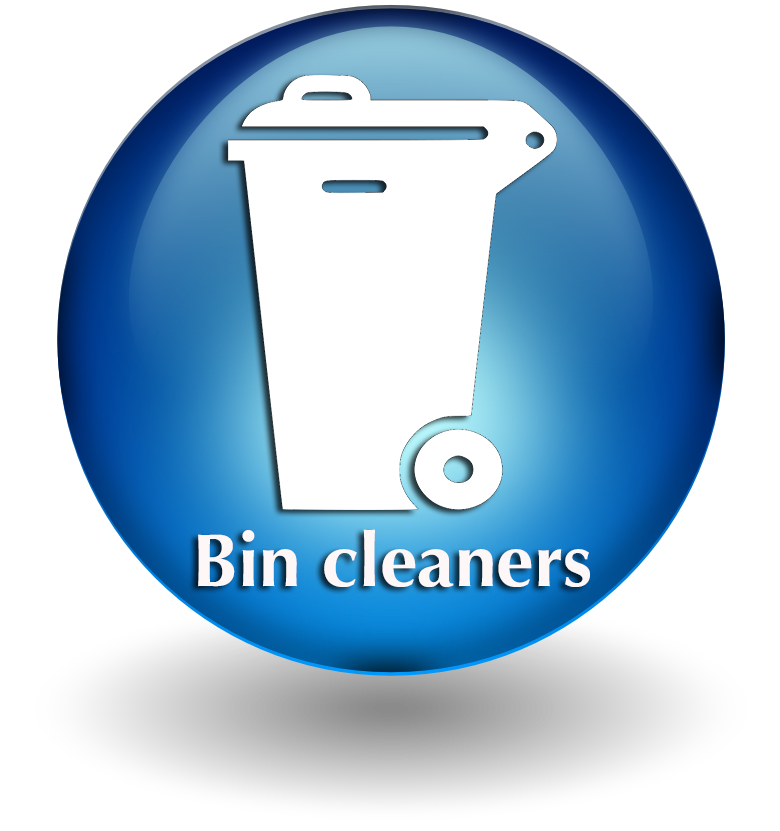 Bin cleaners button 2