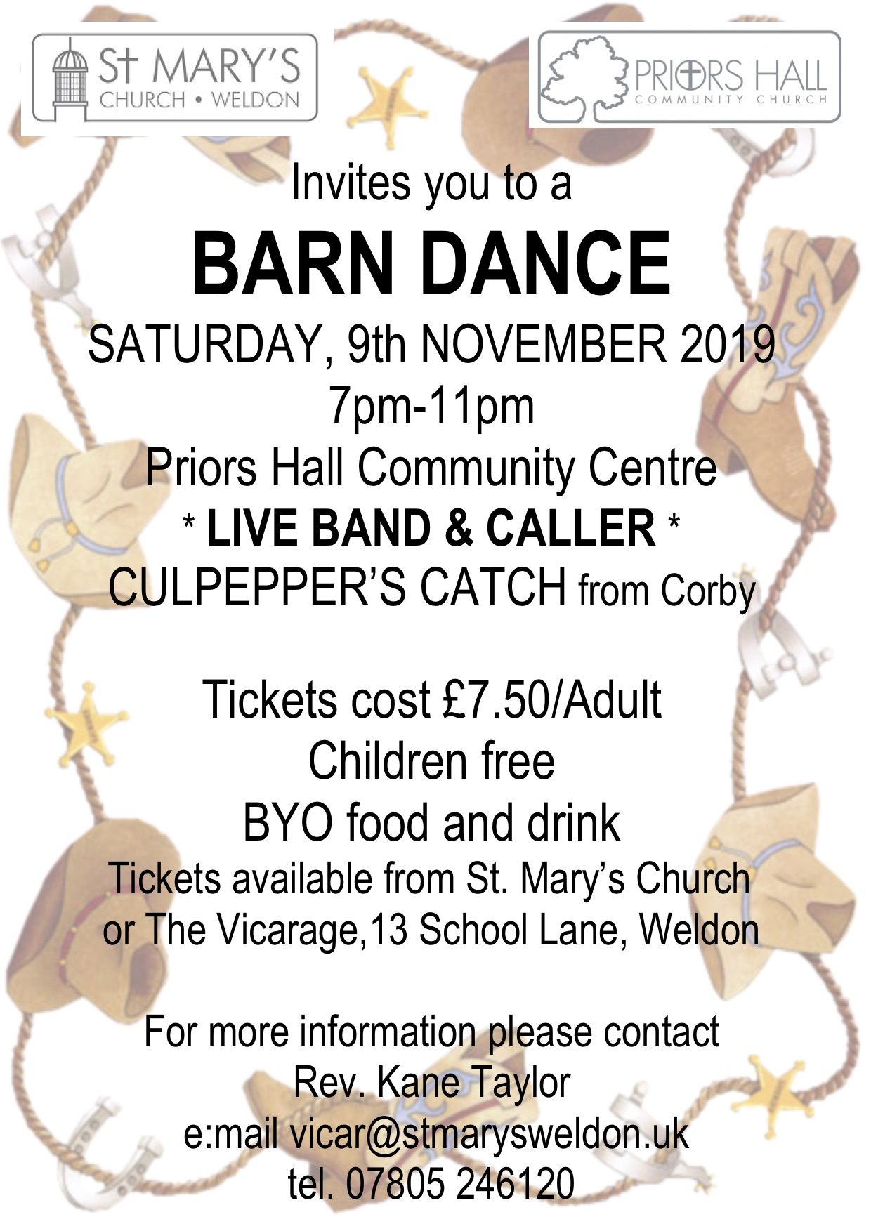 BARN DANCE POSTER NOV