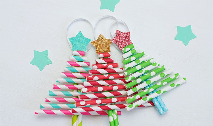 Paper Straw Christmas Trees (2)