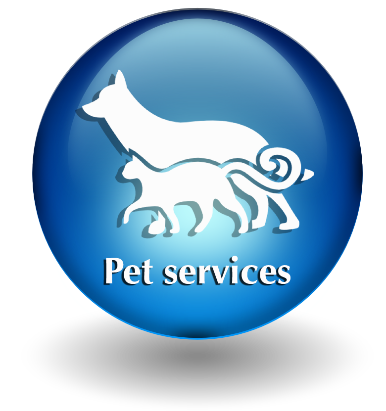 Pet services button